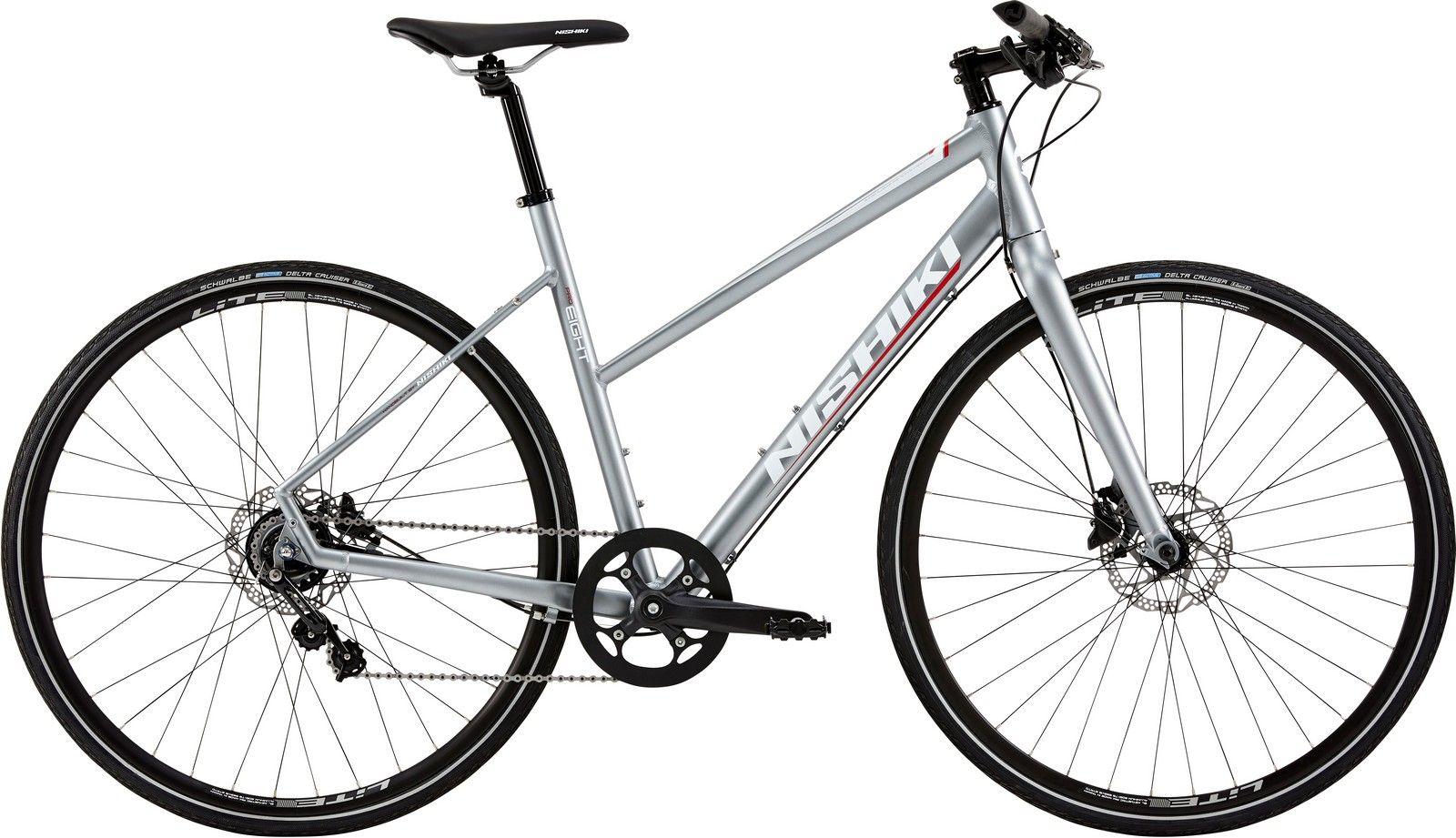 Nishiki Pro Eight, Dame sportscykel, 2019, Mat sølvgrå | City-cykler